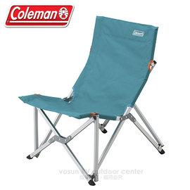 【美國Coleman】鋁合金低重心樂活椅.休閒椅.新大川椅.折疊椅.導演椅.折合椅.露營椅.童軍椅(限重80kg)/附收納袋/CM-6994 水藍