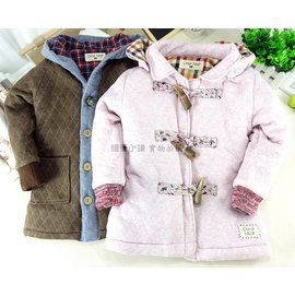 外套~超厚鋪棉  CHIP TRIP長版大衣森林系空氣棉保暖外套  寒流禦寒 加厚 牛角