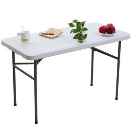 【免工具】深60x寬122x高74/公分(4尺寬度)4.5公分厚度-折疊桌/書桌/電腦桌/工作桌/野餐桌/洽談桌/會客桌(1入/組)-HL-C122-1