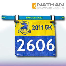 【美國 NATHAN】輕量號碼帶/號碼補給帶.彈性腰帶.號碼布夾.路跑.自行車.三鐵 穿式_NA1128NAB 藍