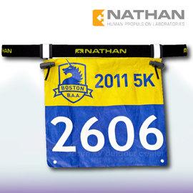 【美國 NATHAN】輕量號碼帶/號碼補給帶.彈性腰帶.號碼布夾.路跑.自行車.三鐵 穿式_NA1128NB 黑