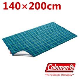 探險家戶外用品㊣CM-21170 美國Coleman 刷毛休閒墊 (綠格紋) 140*200 鋁箔墊 野餐墊 野營墊 睡墊 防潮墊 地墊