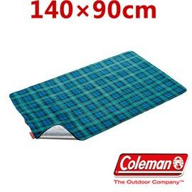 探險家戶外用品㊣CM-21173 美國Coleman 迷你刷毛休閒墊 (綠格紋) 140*90 鋁箔墊 野餐墊 野營墊 睡墊 防潮墊 地墊