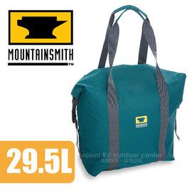 【美國 MountainSmith】Roll Top Cooler Cube Teal 保冰袋(29.5L)/保溫袋.手提包.托特包.旅行袋/適登山健行(非Gregory)/藍 D47508050