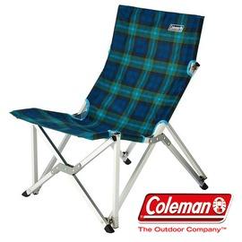 探險家戶外用品㊣CM-21209 美國Coleman 樂活椅 (綠格紋) 鋁合金 休閒椅 新大川椅 折疊椅 摺疊椅 導演椅 野營椅