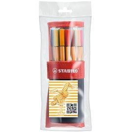 STABILO 德國天鵝牌 point 88 系列 簽字筆 25色典藏組 附贈 筆袋 一袋