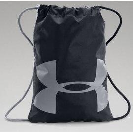 免運費~UNDER ARMOUR Ozsee Sackpack 輕便健身包(1240539-001) 黑/灰 (公司貨)