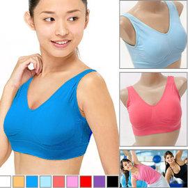 免  無痕內衣 內衣^(附胸墊^) E360~0035 ^(無鋼圈內衣胸罩.防震 背心.舒