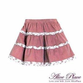 古典提花滾邊長裙