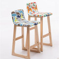 5Cgo ~ 七天交貨~ 37390530030 實木吧台椅歐式吧椅簡約吧台凳家用吧凳 高
