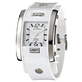AQ81~D 捷卡 JAGA 運 有型酷炫防水 冷光 指針錶 白色