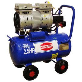 雙氣缸空壓機2.5HP 25L無油靜音型★無油式/低噪音/耗電低★台灣製造 品質保證