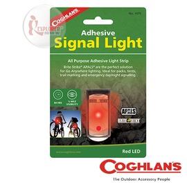 探險家戶外用品㊣1470 加拿大coghlan's 可黏貼閃光警示燈 (紅) LED 帳篷燈 露營警示燈 自行車/單車/告示燈/安全燈