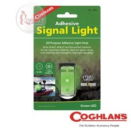 探險家戶外用品㊣1480 加拿大coghlan's 可黏貼閃光警示燈 (綠) LED 帳篷燈 露營警示燈 自行車/單車/告示燈/安全燈