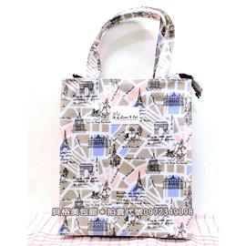 貝格美包館 Queen  Cat 中直立 彩色凱旋門 A4 補習袋 便當袋 滿千 尚有側背