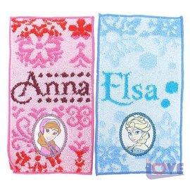 ~滿載愛~冰雪奇緣~愛莎 安娜 手帕組 2入 Anna Elsa 10x20cm