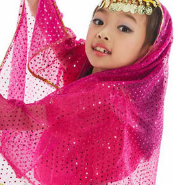 免  百搭亮點兒童肚皮舞頭紗 E331~A0131 ^(表演服飾.演出服飾.肚皮舞服飾.舞