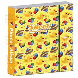 4x6立體 相本~~~黃色小鴨款~2層式內頁 立體浮雕閃亮封面 超大容量240入