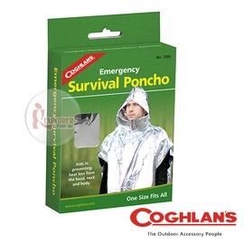 探險家戶外用品㊣1390 加拿大coghlan's 緊急救生雨披 (雨衣設計) 雙銀鋁箔毯 可當緊急用毯 救生毯 急救毯 保溫毯 救難包