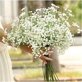 F0756 唯美滿天星 婚紗照拍攝道具手捧花仿真花卉絹花家居裝飾假花^(1束^)