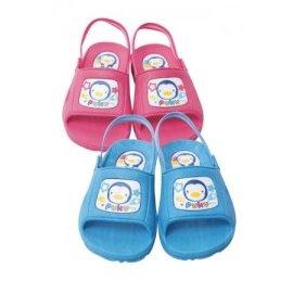 PUKU藍色企鵝學步拖鞋^(P40502^)