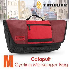 【美國 TIMBUK2】新款 Catapult 輕巧郵差包(M,5L).筆電背包.多功能手提袋.信使包.書包.側背包.機車包 /744-4-6061 紅/黑