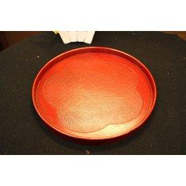 ~九寶川~ 瓷器雜貨   漆器托盤 福梅丸盆8~5吋布目根來托盤