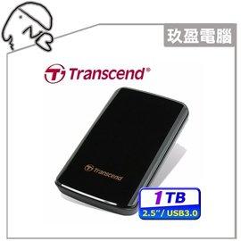 【創見】創見D3 USB3.0 1TB 2.5吋行動硬碟(黑) 免運費創見 (TS1TSJ25D3)