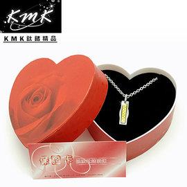 浪漫主義,瑰麗上市^~KMK鈦鍺 ~長形黃金箔片~純白鋼 金箔 磁健康墜鍊