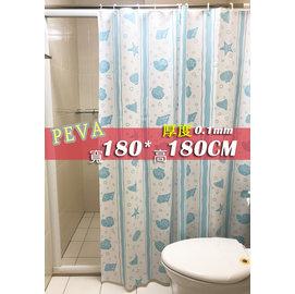 #9829 采緹 #9829 1F761 藍 180*180 PEVA 防水浴簾、乾濕分離