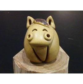 【啟秀齋香品軒】十二生肖 寶馬 香插 香座 高約4.5公分 居家擺飾擺件 茶寵 鶯歌陶瓷藝品