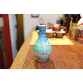 ~九寶川~ 瓷器雜貨  紅彩強化德利酒瓶 亦可當花瓶插小花