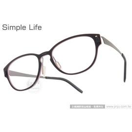 Simple Life 光學眼鏡 SL1215 (二色) β 鈦金屬系列舒適休閒 平光鏡框 #金橘眼鏡