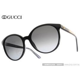 GUCCI 太陽眼鏡 GG3697S AM3HD (黑-漸層金) 時尚必備人氣貓眼款 墨鏡 # 金橘眼鏡