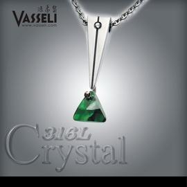 VASSELI~╮ 免  12期0率 買一送五╭~~挪威森林~男墜~Swarovski水晶