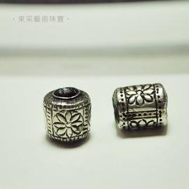 ~東采藝術珠寶~老件 925純銀珠 早期 925銀珠珠子 OSI00032 飾品材料串珠