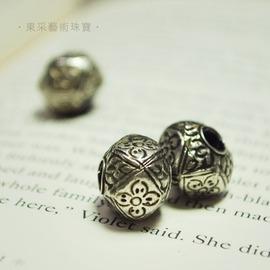 ~東采藝術珠寶~老件 925純銀珠 早期 925銀珠珠子 OSI00035 飾品材料串珠