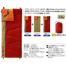 大林小草~【72600700】日本 LOGOS 丸洗雙層子母睡袋-2度 可對應3種溫度
