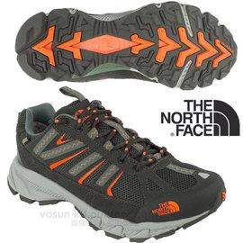 【美國 The North Face】男款 ULTRA 50  Gore-Tex 防水透氣超輕量登山健行鞋(快乾)多功能越野跑鞋.慢跑鞋_A1NJ 黑墨綠/螢光橘 DV
