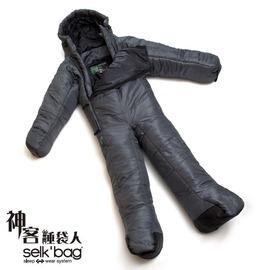 探險家戶外用品㊣LTDSM SELK'BAG 神客睡袋人LITE輕量款M (暗影灰 /8度) 背包客睡袋 登山睡袋 全身人型 全身人形睡袋推薦