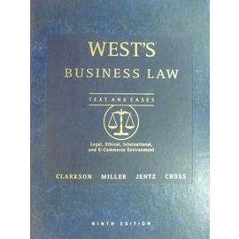 ~書寶 書T5╱大學法學_WGZ~Wests Business Law_2004_Clar