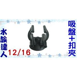 【水族達人】《吸盤+加溫器(石英管)扣夾.12/16.1入/組》超實用!
