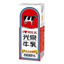 光泉低脂高 牛乳200ml^(6入^) ~光泉保久乳~