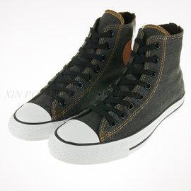 6折出清~CONVERSE~All Start-黑色 牛仔布 拉鏈式 ~中筒帆布鞋(147914C)