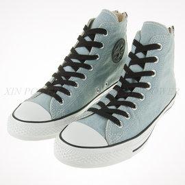 CONVERSE~All Start-水藍 牛仔布 拉鏈式 ~中筒帆布鞋(147915C)