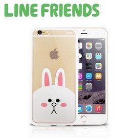 大 LINE FRIENDS iPhone 6 6s 款透明硬式保護殼~兔兔^(LN~I6