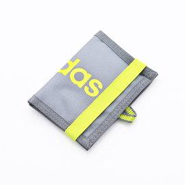 ~大包小包~ 入門 ~ADIDAS~繽紛 束帶兩折短夾^(灰色^) S24720