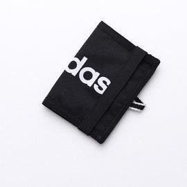 ~大包小包~ 入門 ~ADIDAS~繽紛 束帶兩折短夾 黑色  AJ9977