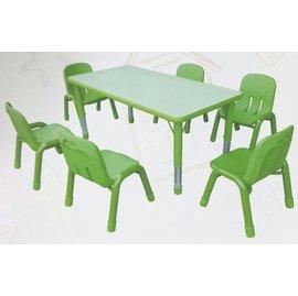 !金愛買! 資優方型桌 安親班桌 優美亞方形桌 6人幼教桌 兒童桌120^~60cm^(可