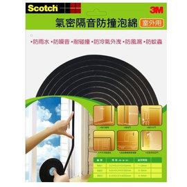 3M Scotch室外氣密隔音防撞泡棉8801 1~3mm  有效隔絕室外噪音及窗框邊縫因